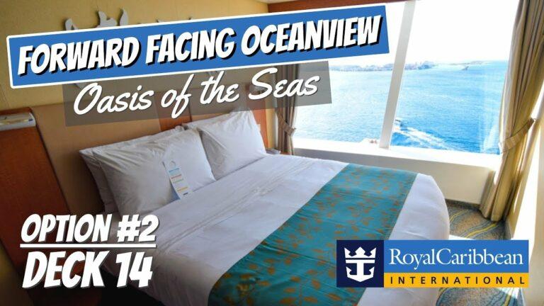 Royal Caribbean Oasis of the Seas | Forward Facing Ocean View Stateroom Walkthrough Tour 4K DECK 14