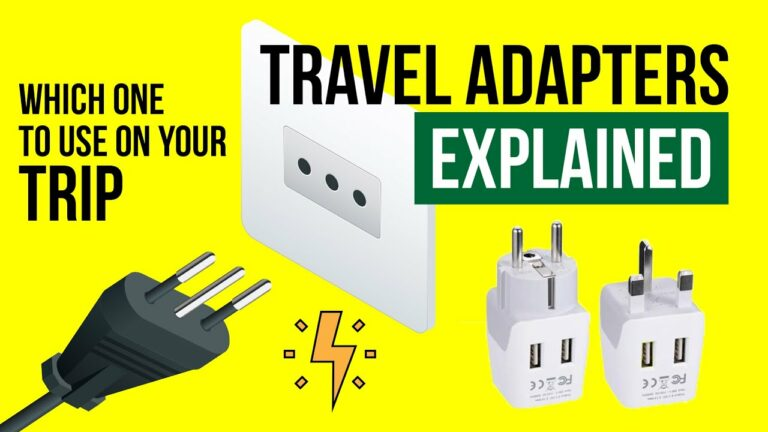 TRAVEL ADAPTERS and Power PLUGS explained | World Travel Tips